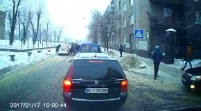 Наезд на пешеходов во Львове