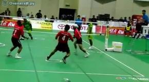 Соединили волейбол  сокс и кунг-фу