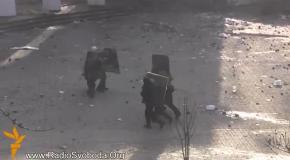 Штурм на Грушевского: стычки между протестующими и Беркутом продолжаются