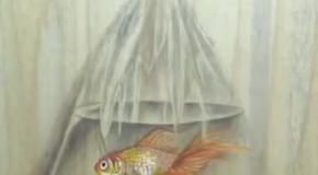 Как художник рыбку в кулек посадил
