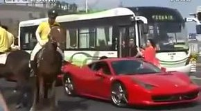 Конь пнул Ferrari