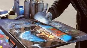 Уличный художник из Нью-Йорка