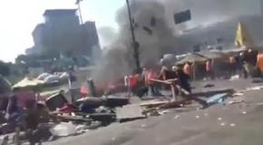 Уборка баррикад на Майдане, 7 августа: пожар и беспорядки