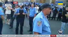 Харьков, 9 августа: столкновения между сторонниками Кернеса и его противникам
