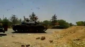 В танке уронили фугас
