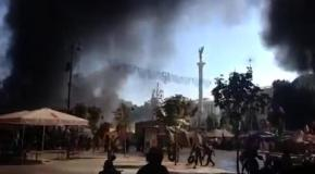Уборка баррикад на Майдане, 7 августа: протестующие подожгли шины