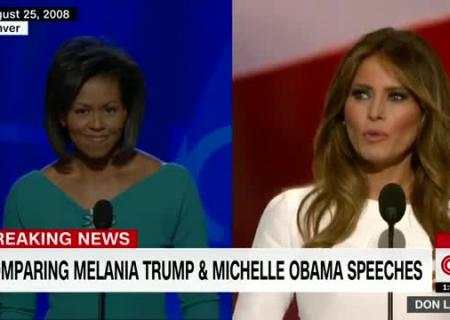 Comparing Melania Trump and Michelle Obama's speeches 0:43
