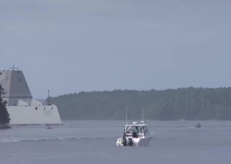 ВСША военный корабль будущего отправился встрой
