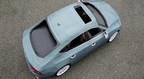 Картонная Audi за 245 часов