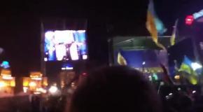 Никита Джигурда в Киеве на Майдане поддерживает активистов