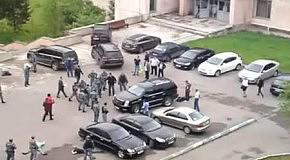 Драка московского ОМОНа и чеченских студентов