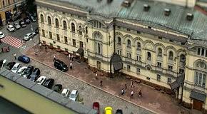 Иллюзия игрушечного Киева в тилт-шифт