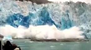 Град  с осколков айсберга