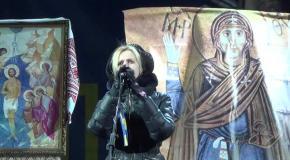 Виступ Ірини Фаріон на Майдані в Києві