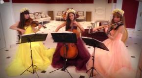 Русский танец - классика в красивом исполнении, трио Violin Group DOLLS