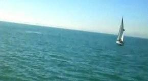 Кит атакует лодку