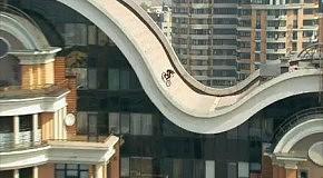 Вело-екстрим на крыше
