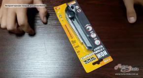 Канцелярский нож металлический MasterTool 17-0198 с отламывающимися лезвиями 18х0 5мм