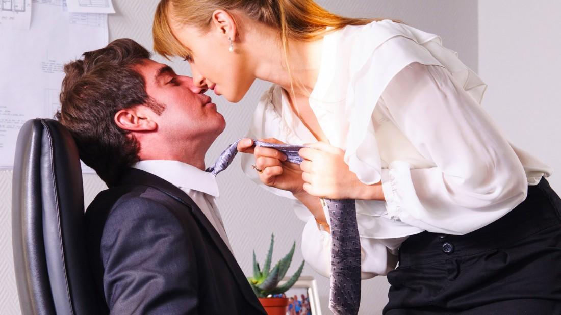 Caught Masturbating Under The Desk -