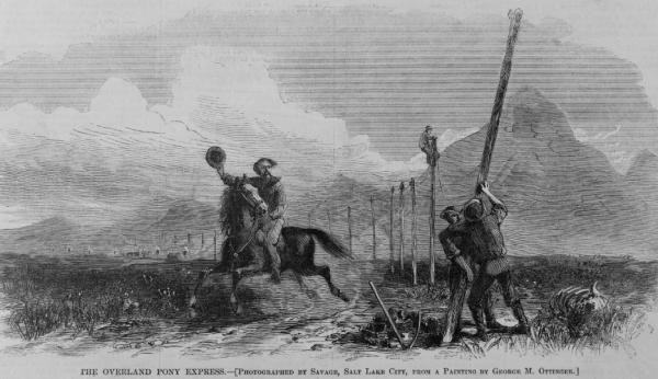 Установка телеграфных столбов
