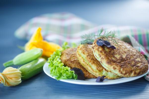 Рецепт                  Вегетарианские кабачковые оладьи