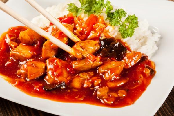 Рецепт                  Курица по-китайски с кунжутом