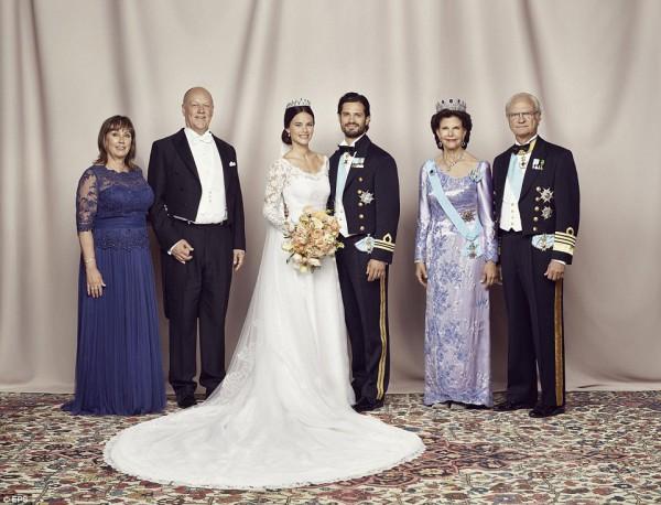 Кадры с церемонии венчания