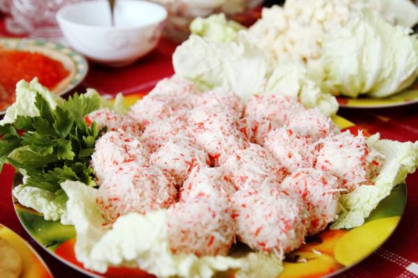 Рецепт                  Крабово-сырные шарики