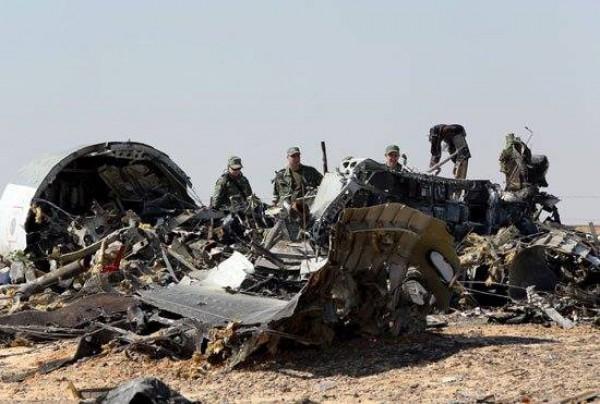 Место крушения самолета в Египте
