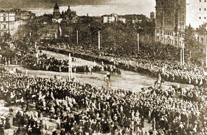 Anuncio solemne en la Plaza de Sofía del Universal sobre la colegialidad de Ucrania. 22 de enero de 1919