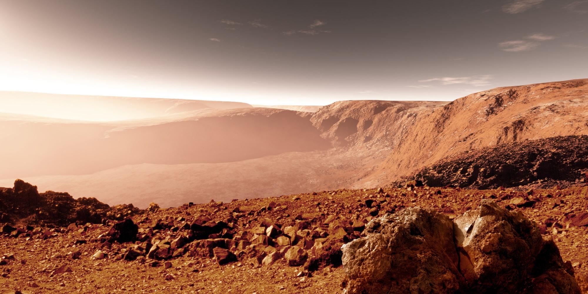 mars landscape materials - HD2000×1000