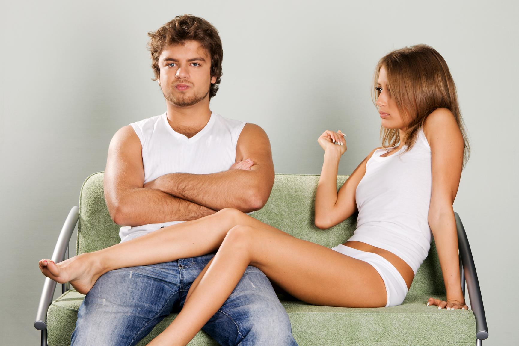 Секс жена муж и мужчина