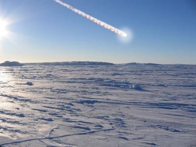 Атмосфере никогда не нагреть метеорит