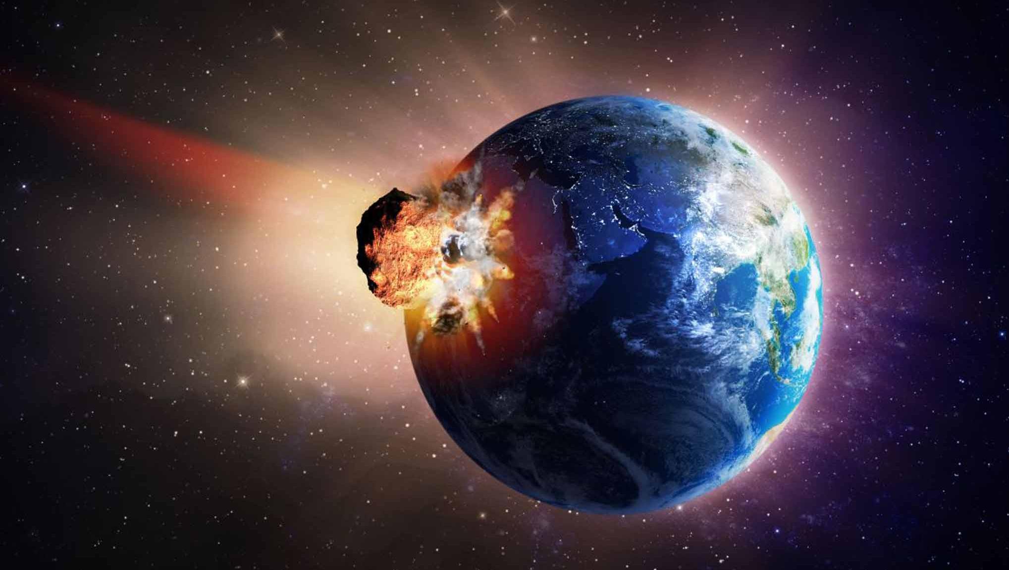 Image result for Столкновение Земли с астероидом