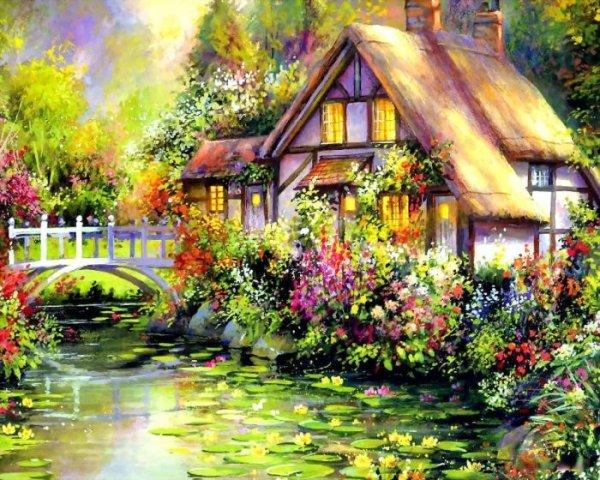 Красочные домики от Jim Mitchell.