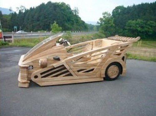 Деревянные автомобили.  Авто и тюнинг.