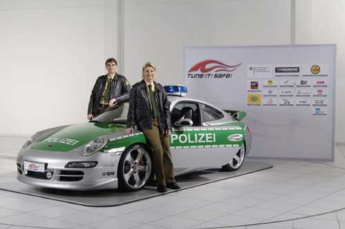 TechArt Porsche 997 Carrera S Police Car.