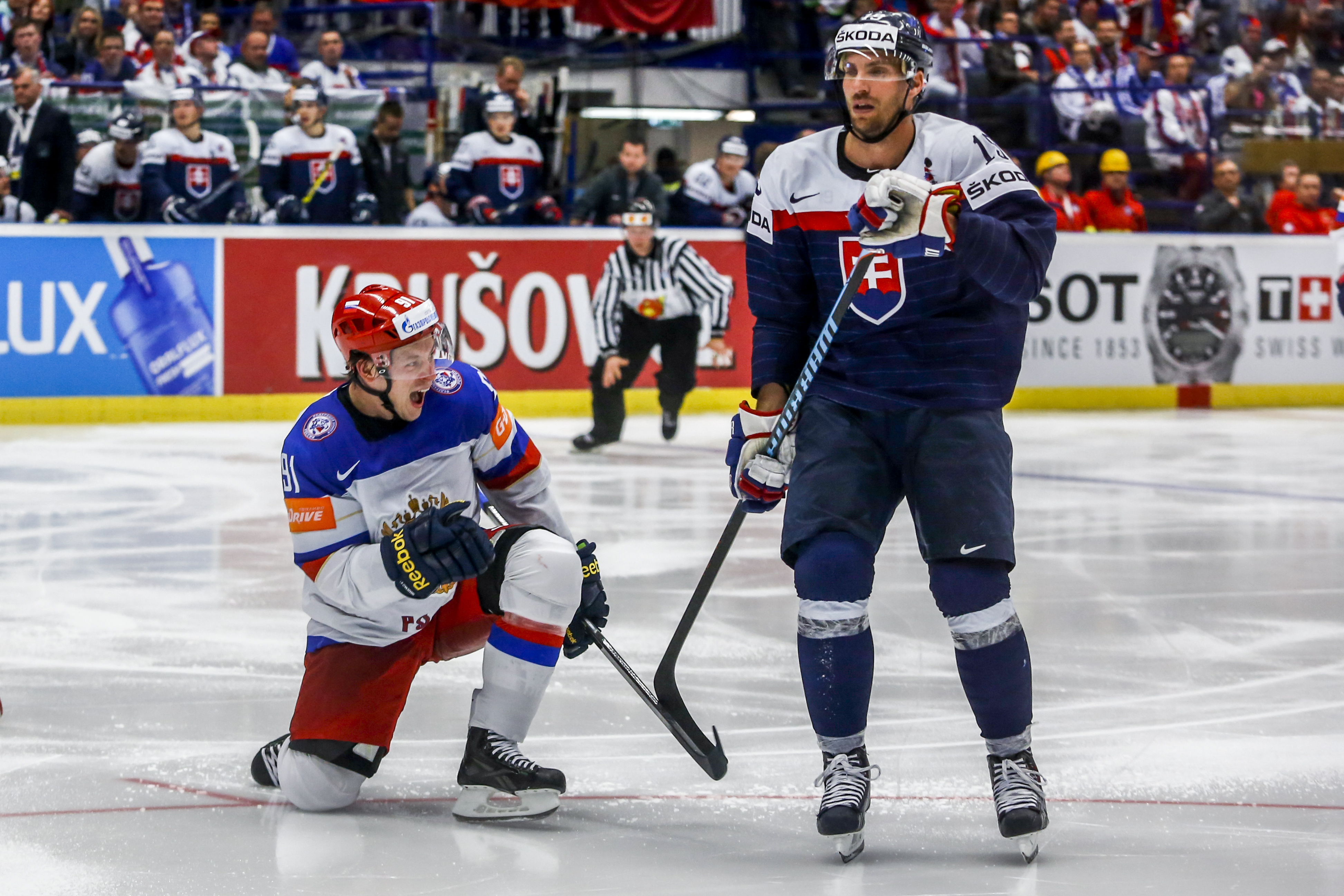 Ставки на матч Россия – Словакия, Чемпионат мира по хоккею 2018