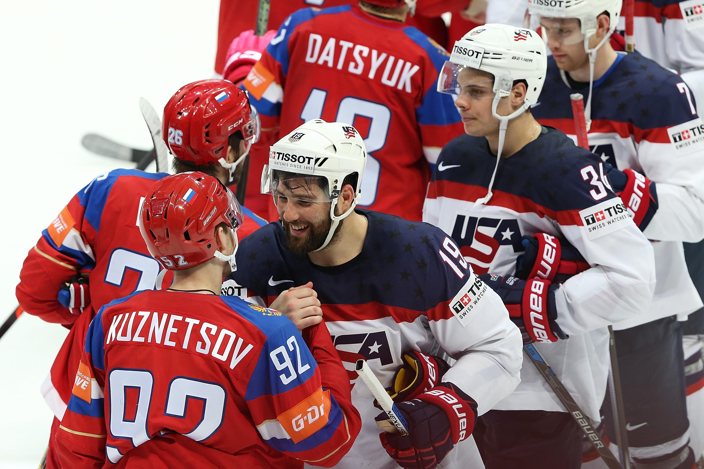 Ставки на матч США – Россия, Чемпионат мира по хоккею 2018