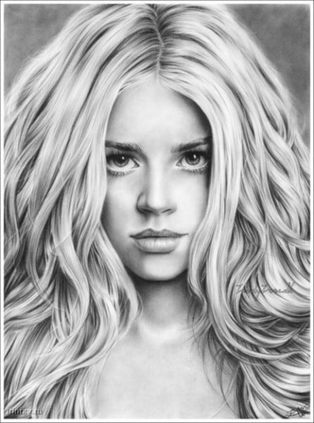 картинки карандашом нарисованные девушки