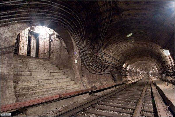 фото метро тоннель